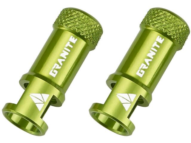 Granite CNC Tapón de Válvula con Función Extracción 2 Piezas, green